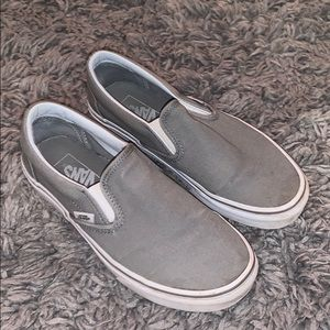 Near perfect gray slip on Vans!!